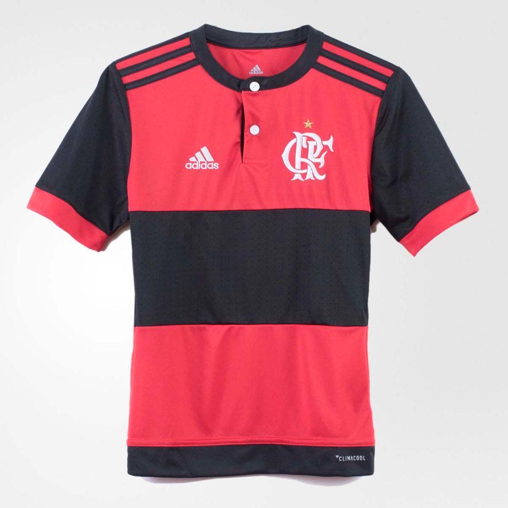 a415000766 Camisa Infantil Flamengo Oficial 1 Adidas 2017 - flamengo