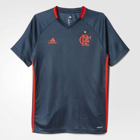 camisa-infantil-flamengo-treino-cinza-adidas-2016-frente