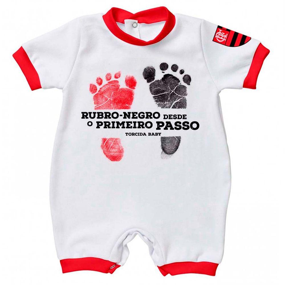 5471772458 Macacão Flamengo Suedeni Primeiro Passo Torcida Baby - flamengo