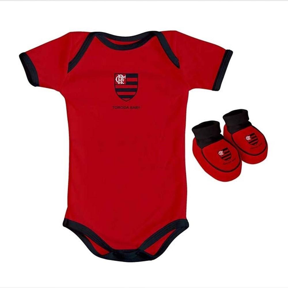 Kit Flamengo Body Colorido Torcida Baby - flamengo 3d4c50b701600
