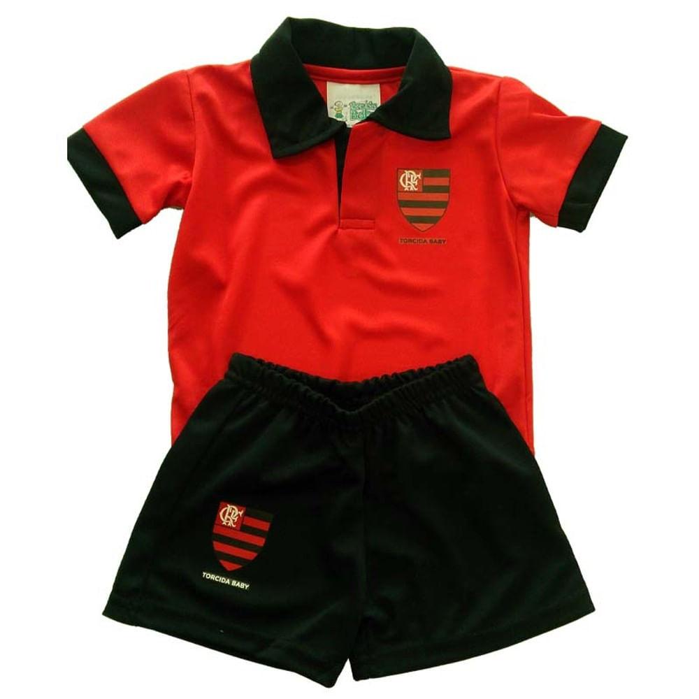 Conjunto Flamengo Polo Bebê Torcida Baby - flamengo c7c8681cd8198