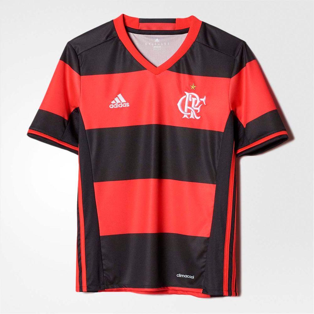 ad828228e6 Camisa Infantil Flamengo Oficial 1 Adidas 2016 - flamengo