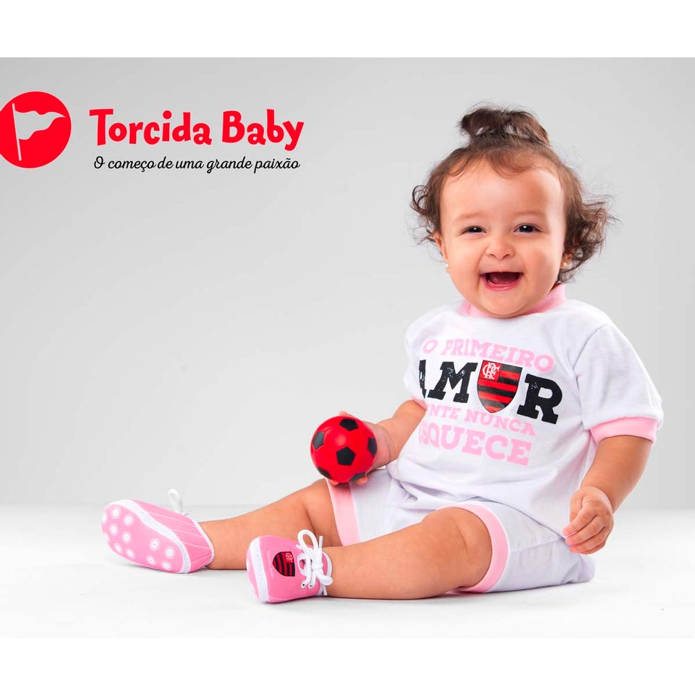 Macacão Flamengo Primeiro Amor Torcida Baby - flamengo e0e8cb4db446a