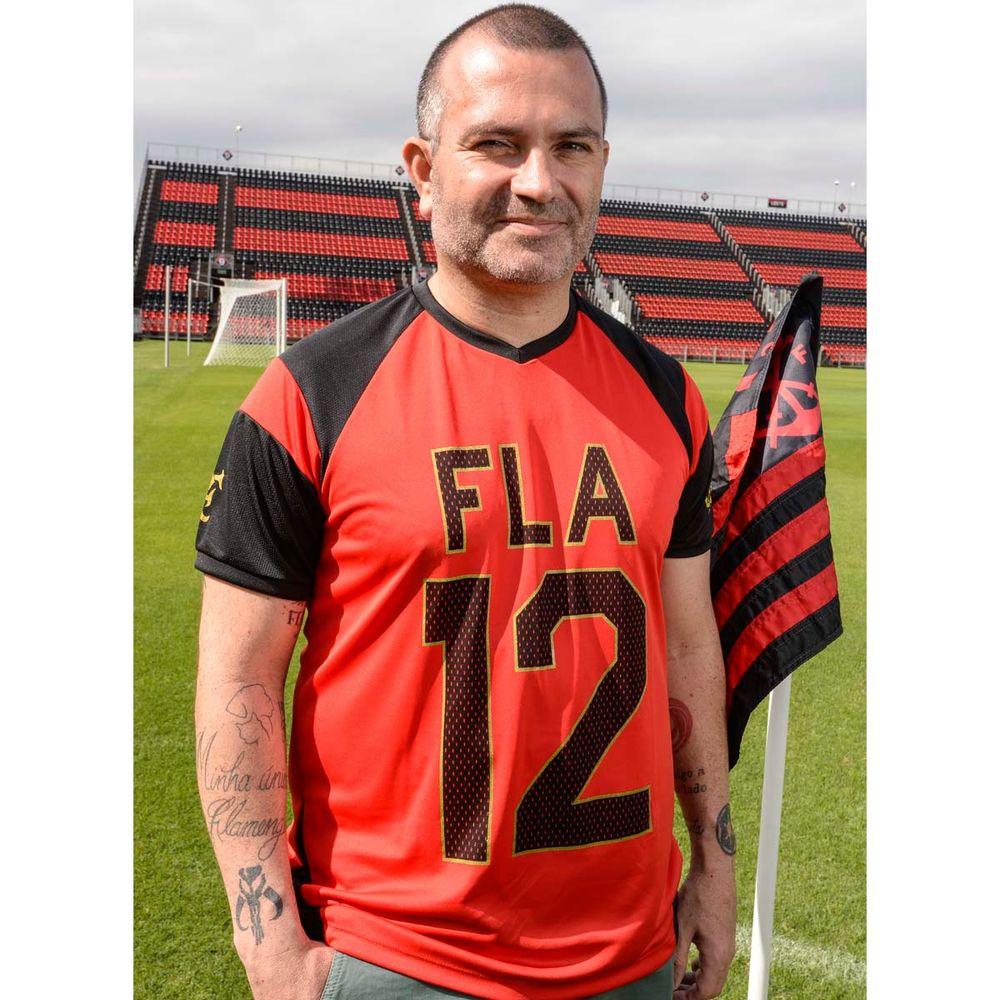 255135383e Camisa Flamengo Script Raglan Braziline - flamengo