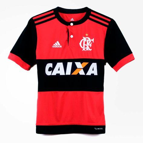 camisa-flamengo-infantil-jogo-1-2017. Camisa Infantil Flamengo Oficial 1  Adidas 2017 2018 Caixa ... fcea3903061b4