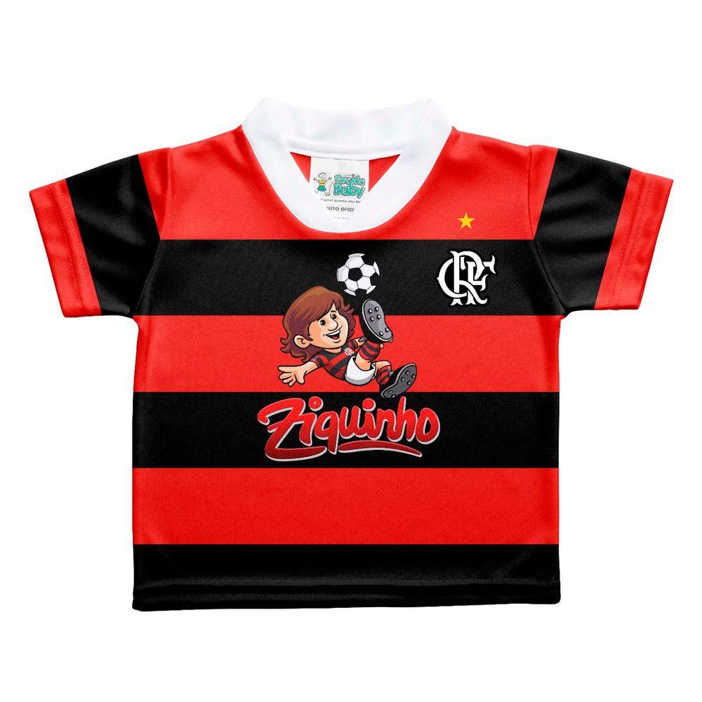 Camisa Flamengo Ziquinho Torcida Baby 0 a 12 meses - flamengo 58e6ee4c04178