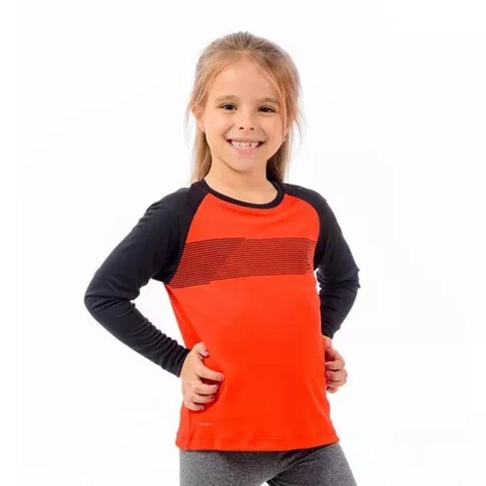 3b8a083424684 Camisa Flamengo Infantil Raglan Zone Vermelha Braziline - flamengo