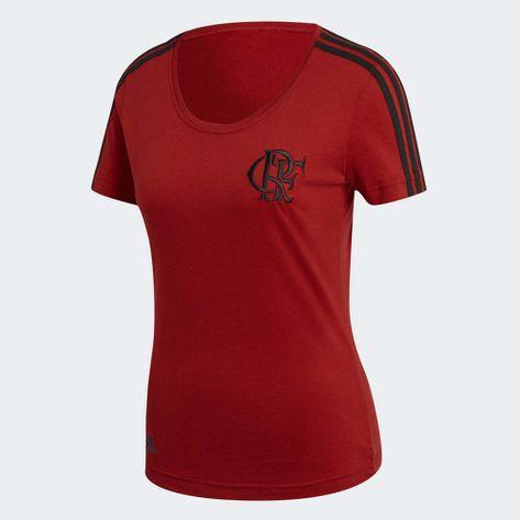 Camisa-Flamengo-Feminina-3S-Adidas-2018-Vermelha