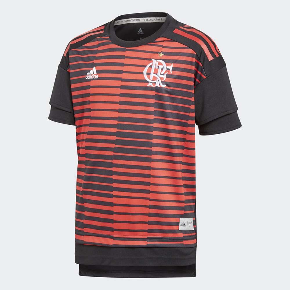 Camisa-Flamengo-Infantil-Pre-Jogo-Adidas-2018 - flamengo 7c577a1382511