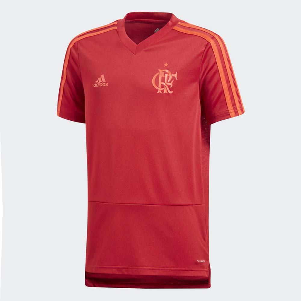 Camisa-Infantil-Flamengo-Treino-Vermelha-Adidas-2018 - flamengo 23bcf784f3e