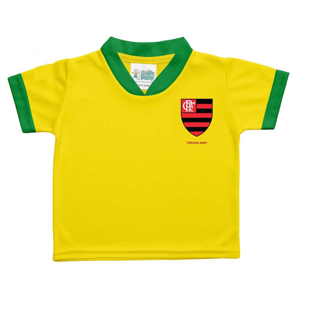 Camisa Flamengo Brasil Avulsa Torcida Baby - flamengo e56189d6b58eb