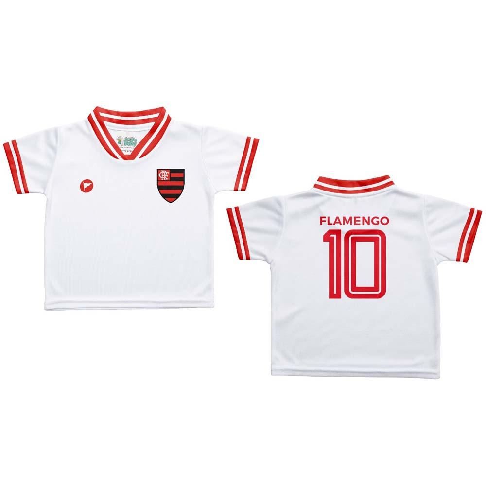 Camisa Flamengo Infantil Estilo 1 Branca Torcida Baby - flamengo 35b508c78ebb7