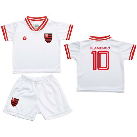 conjunto-flamengo-infantil-estilo-branco-58117-1. Conjunto Flamengo Infantil  Estilo Branco Torcida Baby ... cf05c6cfea0a4