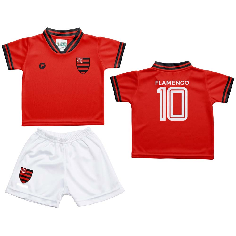 Conjunto Flamengo Bebê Estilo 2 Torcida Baby - flamengo 824f6f0107077