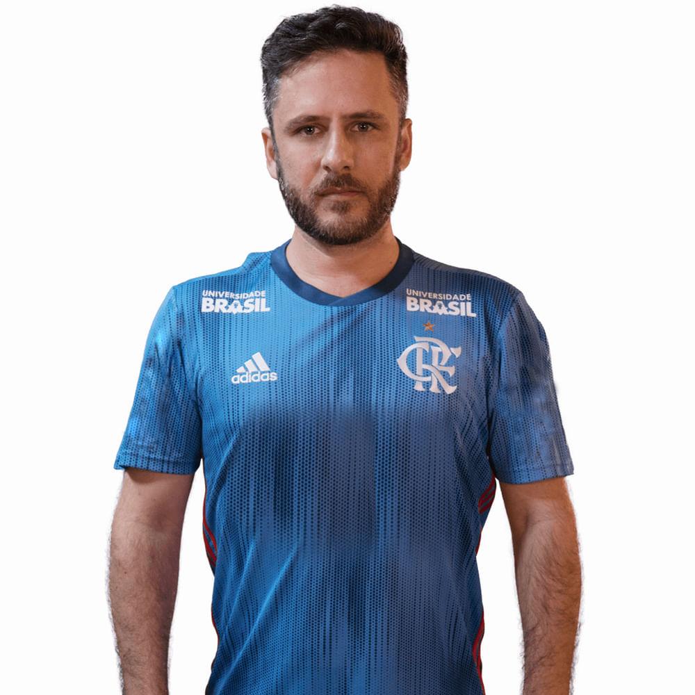 Camisa Flamengo Jogo 3 Adidas 2018 - Com Patrocínios (Carabao 97cb4cfb9f6a1