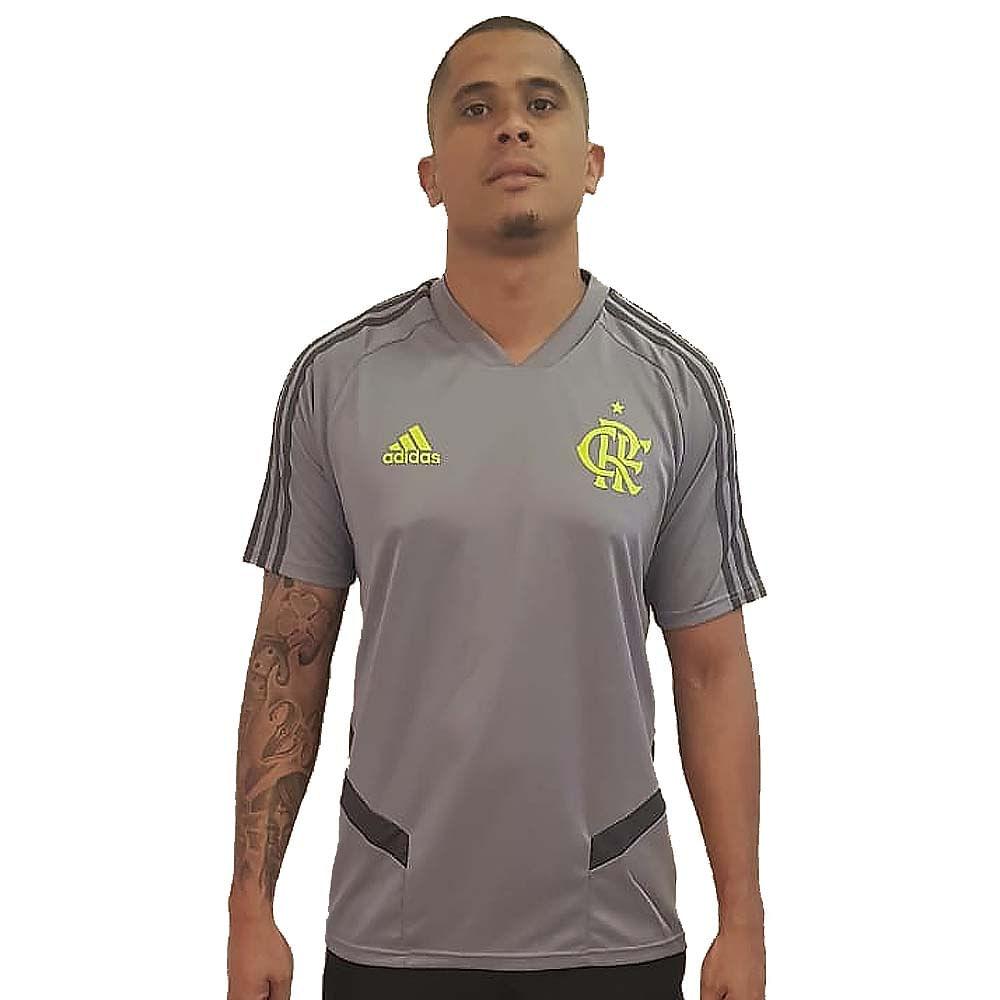 ecc30bb3737 Camisa Flamengo Treino Cinza Adidas 2019 - flamengo