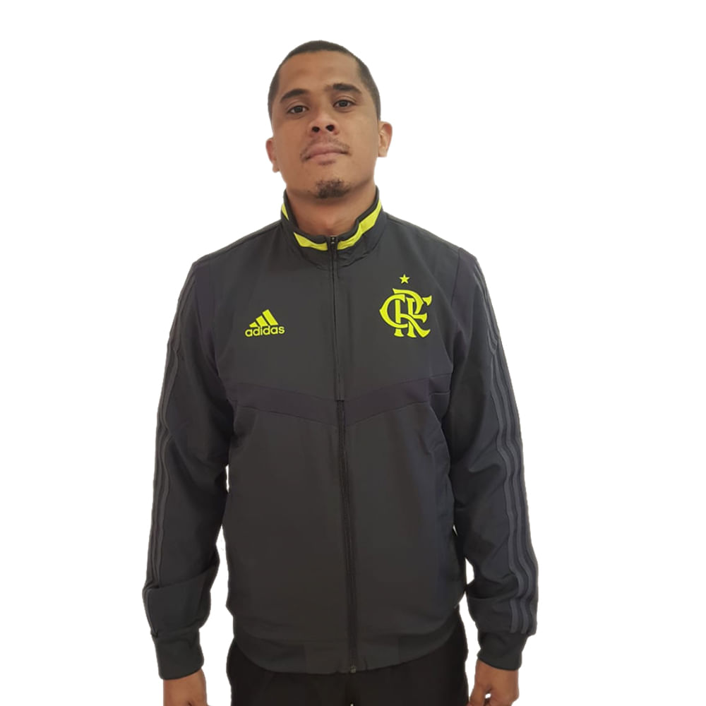 Jaqueta Flamengo Hino Adidas 2019 - flamengo 31a0088d1d844