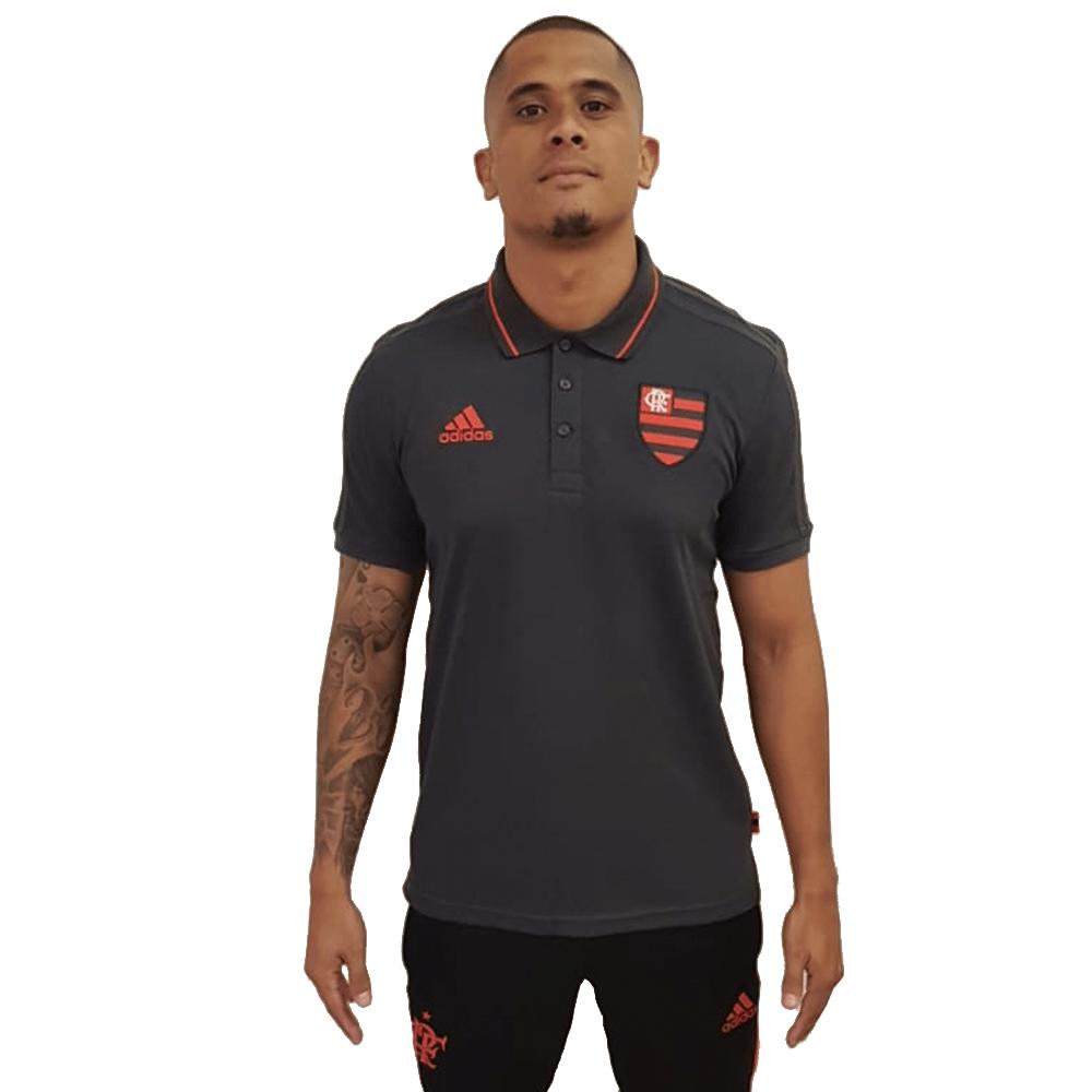 41a4673b92725 Camisa Polo Flamengo Preta Adidas 2019 - flamengo