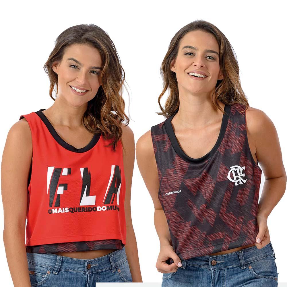 7d7ace441139c Cropped Flamengo Feminina Zoom Dupla Face Braziline - flamengo